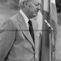 Marshall Fredericks speaking at the Danish Village groundbreaking.jpg