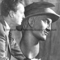 Marshall Fredericks with the plasteline model of Mercury.jpg