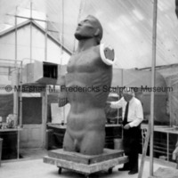 Marshall Fredericks working on the plasteline model of the male figure for Star Dream Fountain.jpg