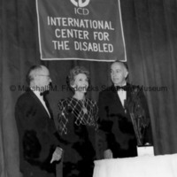 Nancy Reagan receives the annual Communications Award of the ICD Freedom of the Human Spirit.jpg