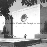 Night and Day Fountain and Sculptured Clock at Henry J. McMorran Auditorium.jpg