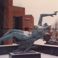 Night from Night and Day Fountain at the Marshall M. Fredericks Sculpture Museum surrounded by snow.tif