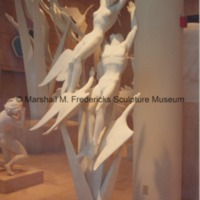 One-third scale plaster model of Freedom of the Human Spirit in the Marshall M. Fredericks Sculpture Museum.tif