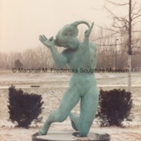 Persephone (Bacchante) in the snowy Sculpture Garden of the Marshall M. Fredericks Sculpture Museum2.tif