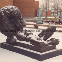 Persephone (Bacchante) in the snowy Sculpture Garden of the Marshall M. Fredericks Sculpture Museum.tif