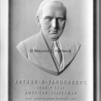 Plaster model for Arthur H. Vandenberg Portrait Relief.jpg