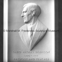 Plaster model for David Mathias Dennison Portrait Relief.tif