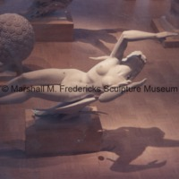 Plaster model for Night from Night and Day Fountain illuminated in the Marshall M. Fredericks Sculpture Museum.tif