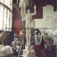 Plaster model for Star Dream Fountain in Marshall Fredericks' Royal Oak studio - 1988.tif