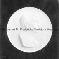 Plaster model for William John Stapleton Jr. M.D. Portrait Relief.tif