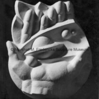 Plaster model of Hands of God for the University of Michigan Administration Building.tif