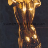 Polished bronze Torso of a Dancer - rear view.tif