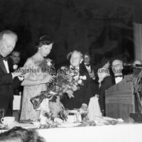 Princess Benedikte receives a bouquet of roses at the 1981 ICD Communications Award Dinner.jpg