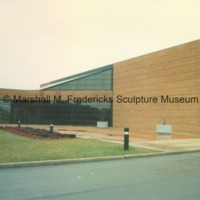 Rear entrance to the Arbury Fine Arts Building and the Marshall M. Fredericks Sculpture Museum - 1988.tif