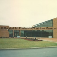 Rear entrance to the Arbury Fine Arts Center and Marshall M. Fredericks Sculpture Museum on the campus of Saginaw Valley State University .tif