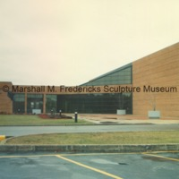 Rear entrance to the Arbury Fine Arts Center and the Marshall M. Fredericks Sculpture Museum - 1988.tif