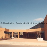Rear entrance to the Arbury Fine Arts CenterMarshall M. Fredericks Sculpture Museum.tif