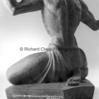 Rear view of small-scale bronze of The Spirit of Detroit with signature.jpg