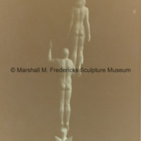 Rear view of Star Dream Fountain - small-scale model, plaster.tif