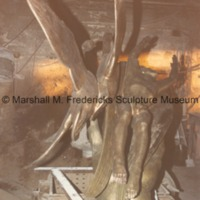 Rear view of Wings of the Morning (Edgar B. Flint Memorial) at the foundry prior to patinization.tif