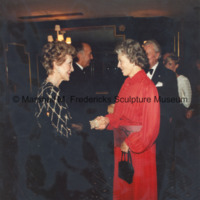 Rosalind Fredericks shakes hands with First Lady Nancy Reagan at the ICD Awards Dinner.jpg