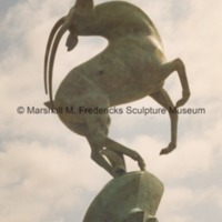 Side view of Leaping Gazelle Fountain at Saginaw Valley State University.tif