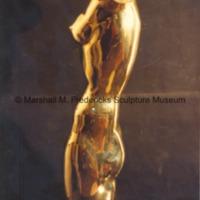 Side view of polished bronze Torso of a Dancer.tif