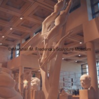 Side view of the full-scale plaster model of Freedom of the Human Spirit in the Marshall M. Fredericks Sculpture Museum.tif