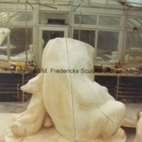 Side view of the plaster model for Two Bears.tif