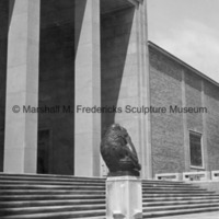 Side view of The Thinker on the steps of Cranbrook Art Museum.jpg