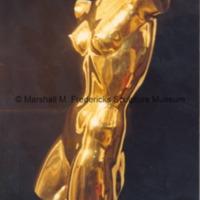 Sidefront view of polished bronze Torso of a Dancer.tif