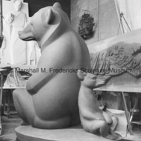 Siderear view of the full-scale plasteline model for Two Bears.jpg