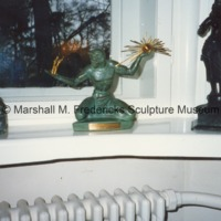 Small-scale bronze of The Spirit of Detroit at the Urho Kekkonen Museum Tamminiemi.tif