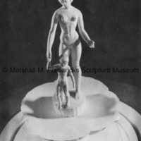 Small-scale plaster model for proposed Two Sisters (Mother and Child) fountain.tif