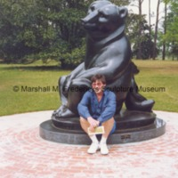 Stig Bjorteman with Two Bears at Brookgreen Gardens.tif