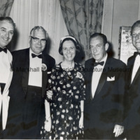 Sumner G. Whittier, The Honorable Urban Hansen, Katherina Gage, Honorable Robert Wagner and Marshall Fredericks at the dinner honoring Project DIADEM disabled visitors from Denmark.jpg