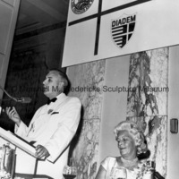 Sumner G. Whittier and Mrs. H. Lawrence Bogart at the ICD Rehabilitation and Research Center dinner honoring Project DIADEM disabled visitors from Denmark.jpg