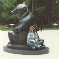 Susan Booth poses with Two Bears at Interlochen Center for the Arts.tif
