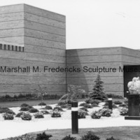 The exterior of the Marshall M. Fredericks Sculpture Museum prior to the installation of Youth in the Hands of God.tif