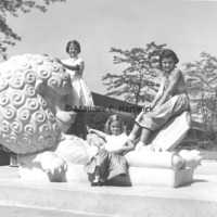 The Fredericks girls pose with The Lion and Mouse.jpg