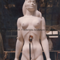 The full-scale plaster model of the female figure for Star Dream Fountain in the greenhouse studio.jpg