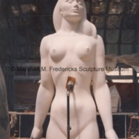 The full-scale plaster model of the female figure for Star Dream Fountain.tif