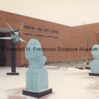 The Lion and Mouse and Two Sisters in the snowy Sculpture Garden of the Marshall M. Fredericks Sculpture Museum.tif