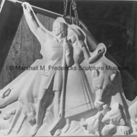 The plaster model for Pioneer Family and Animals of the Region for Spirit of Kentucky.jpg