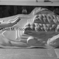 The plaster model for Riverboats and Giant Catfish for Spirit of Kentucky.jpg