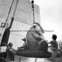 Two Bears is lowered to the ground at the Interlochen Center for the Arts.jpg