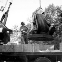 Two Bears is removed from the truck at Interlochen Center for the Arts.jpg