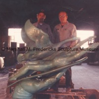 Two unidentified workers with Wings of the Morning at the foundry.tif