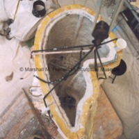 View from above of the plaster mold for Lord Byron (The Poet.tif