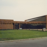 View from road of the rear entrance to the Arbury Fine Arts CenterMarshall M. Fredericks Sculpture Museum.tif